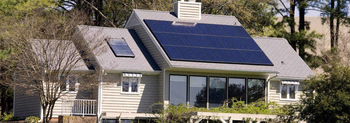 A completely solar energy powered research home.